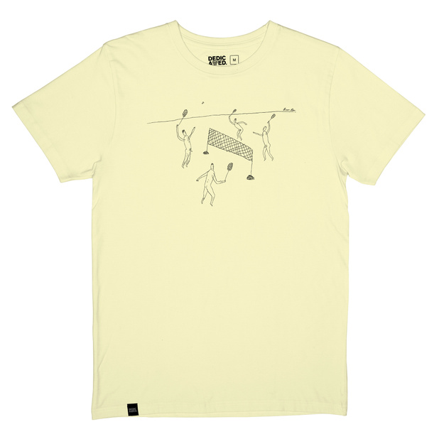 T-shirt Stockholm Badminton Pale Yellow