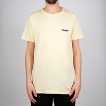 T-shirt Stockholm Dedicated Script Pale Yellow