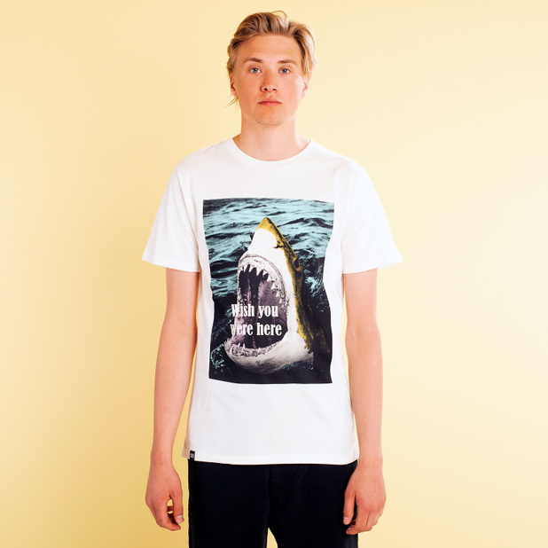T-shirt Stockholm Wish You Were Here White