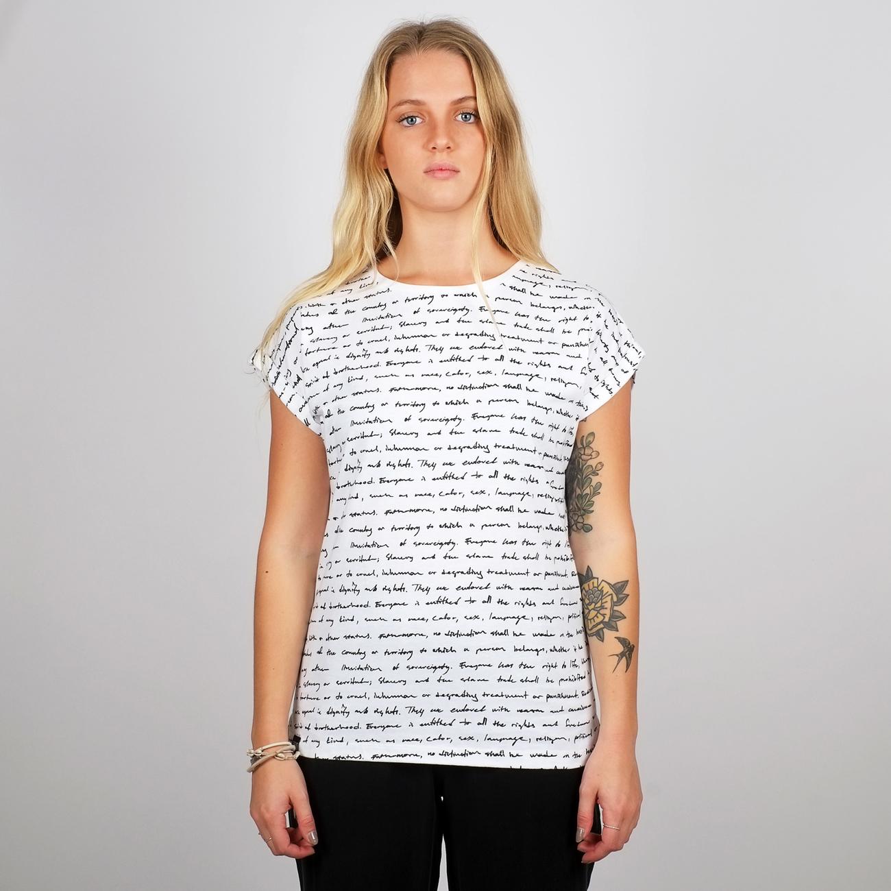 T-shirt Visby Human Rights White