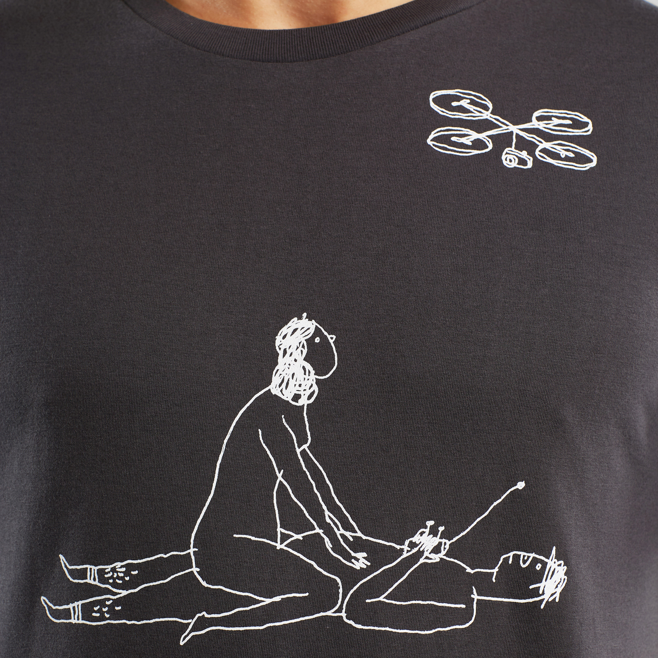 T-shirt Stockholm Drone Love Charcoal