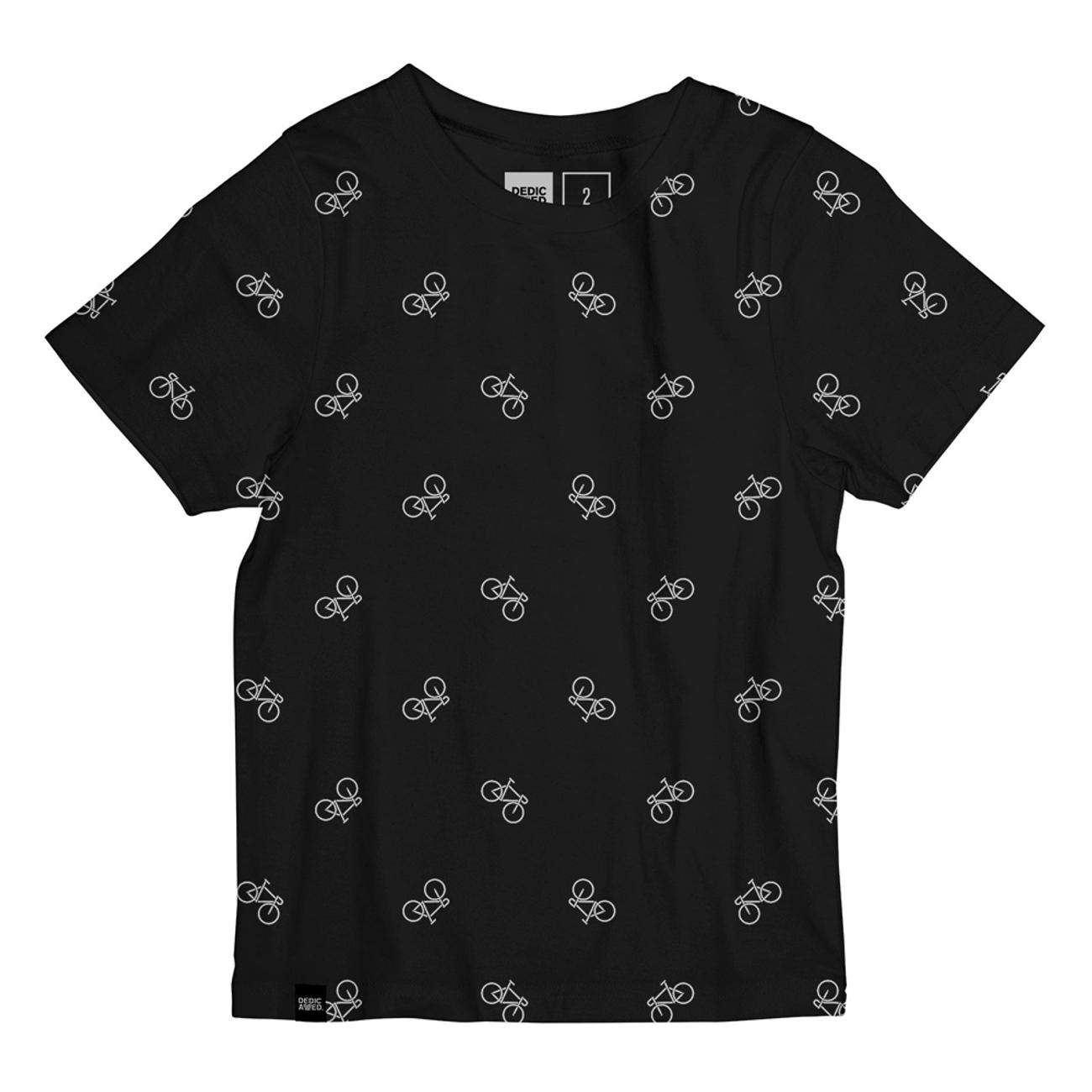 T-shirt Lillehammer Bike Pattern Black