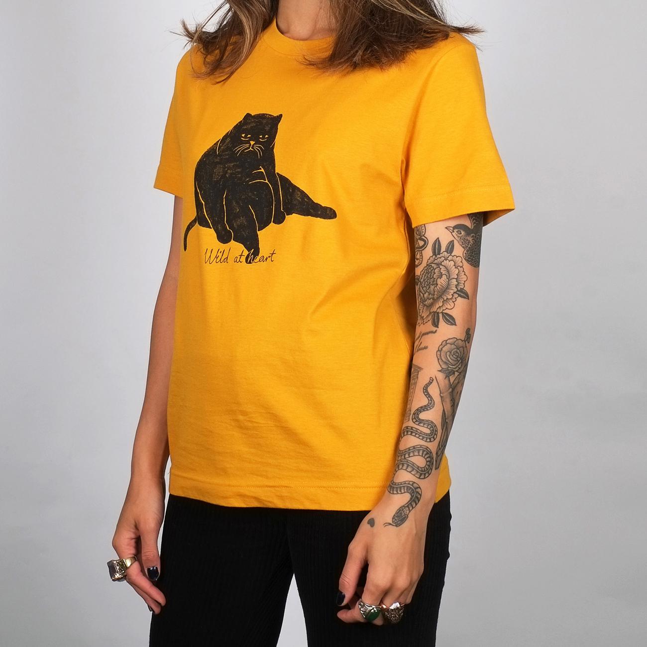 T-shirt Mysen Wild at Heart Mustard