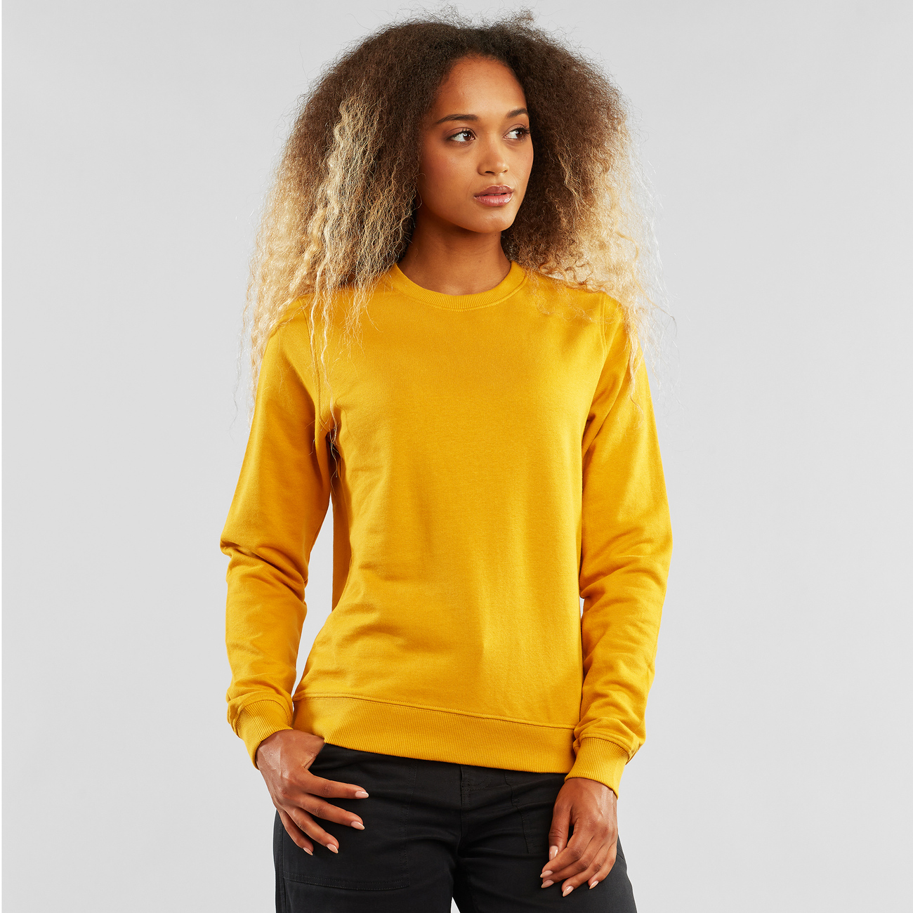 Sweatshirt Ystad Base Mustard