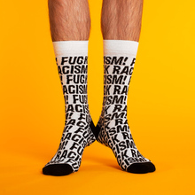 Socks Sigtuna Fuck Racism Pattern White