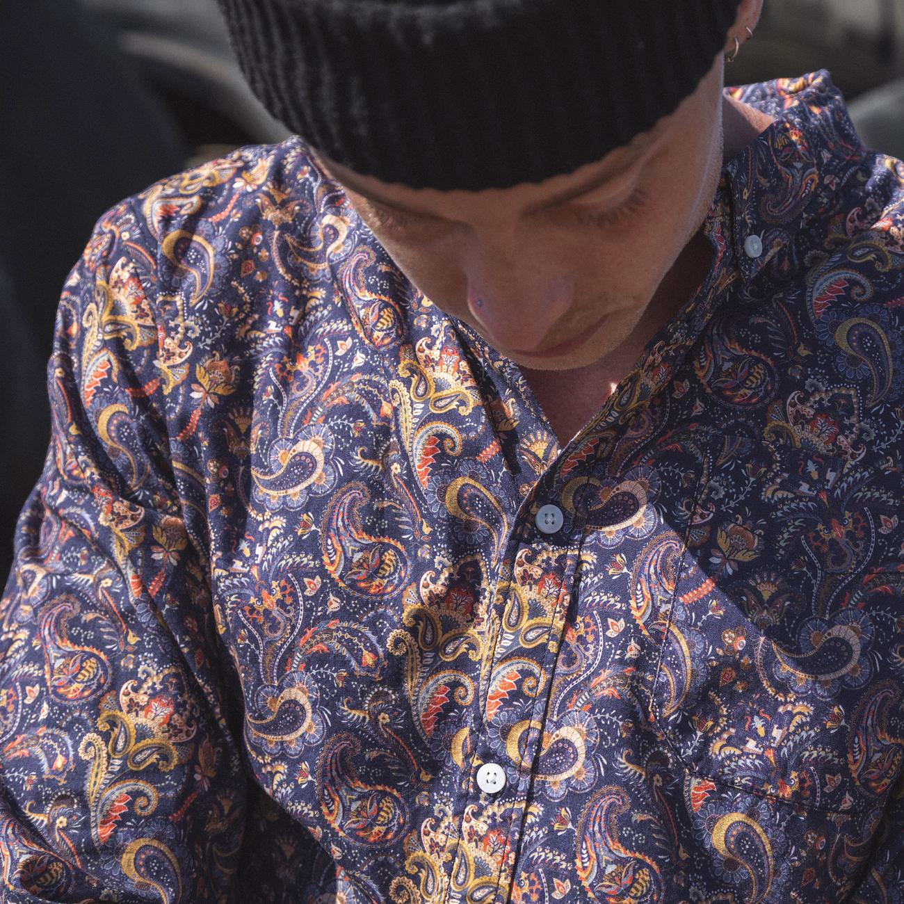 Shirt Varberg Bold Paisley Navy