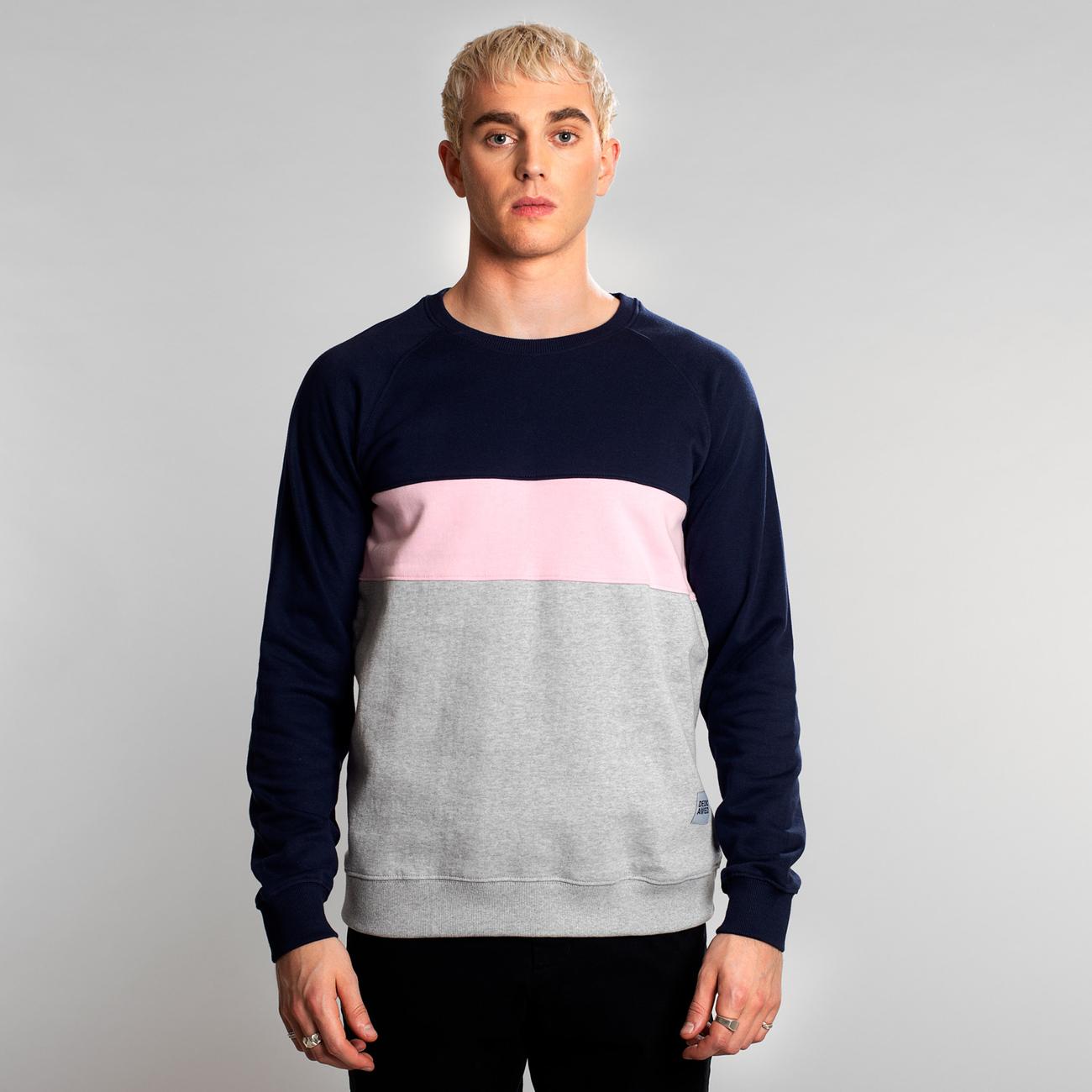 Sweatshirt Malmoe Mono Stripe Navy