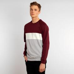 Sweatshirt Malmoe Mono Stripe Burgundy