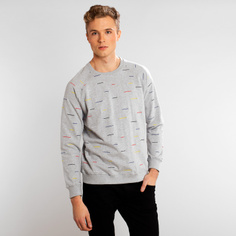 Sweatshirt Malmoe Color Lines Grey Melange