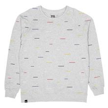 Sweatshirt Malmoe Color Lines Grey Melange