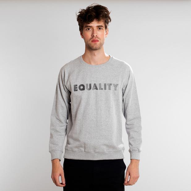 Sweatshirt Malmoe Equality Grey Melange