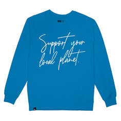 Sweatshirt Malmoe Support Script Blue Aster
