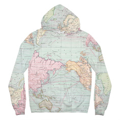 Hoodie Falun Map Multi Color