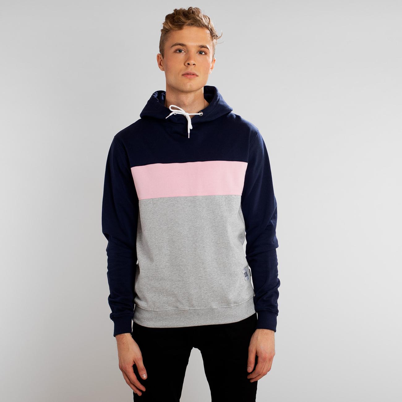 Huvtröja Falun Mono Stripe Marinblå