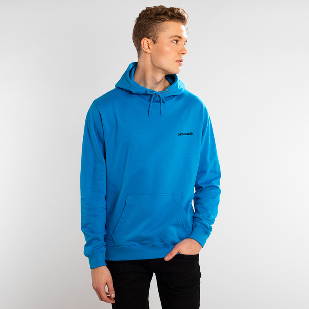 Hoodie Falun Dedicated Logo Blue Aster