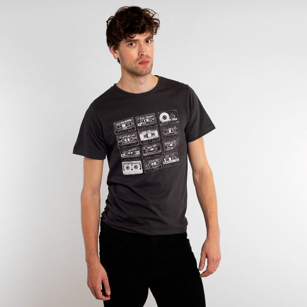 T-shirt Stockholm Tape Collection Charcoal