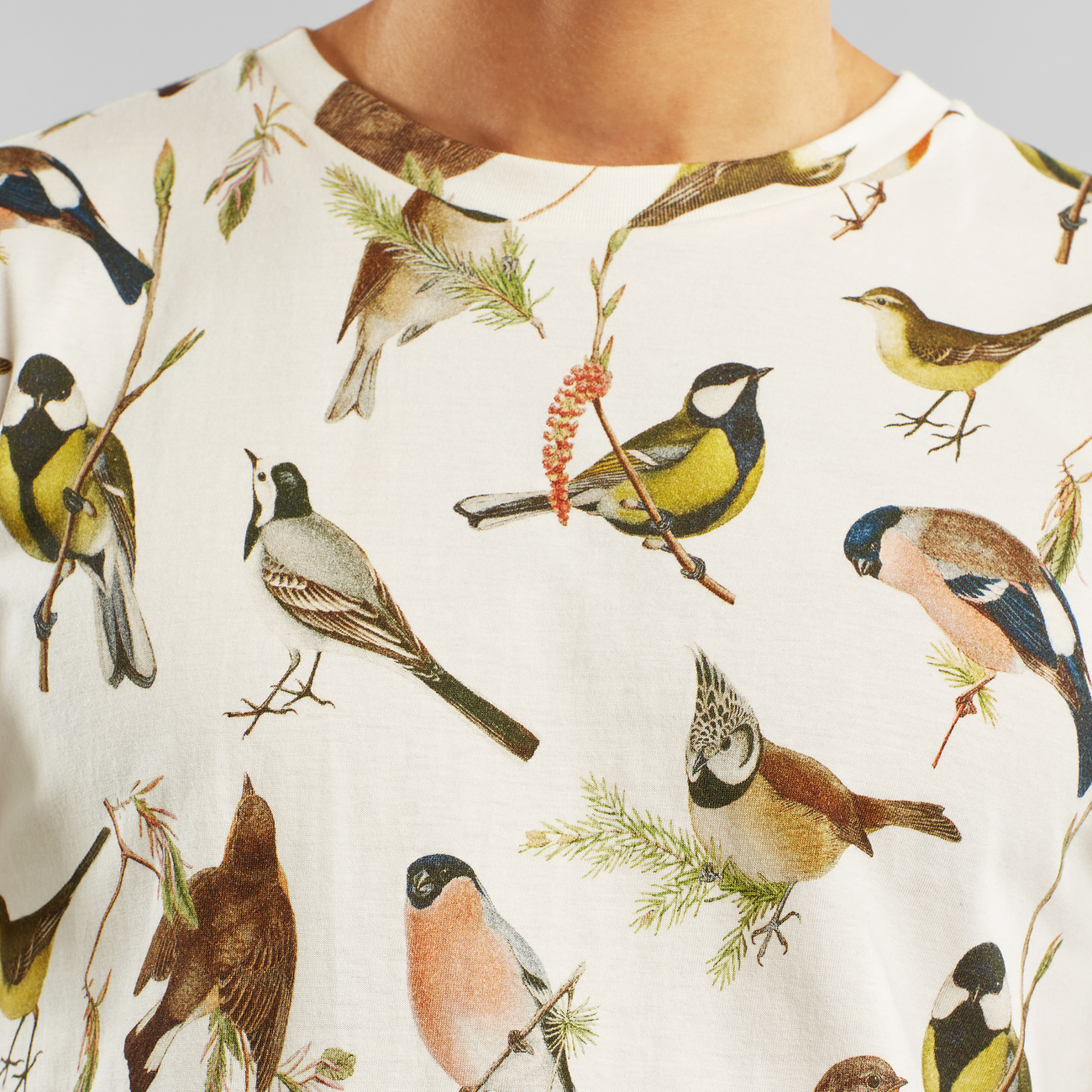 T-shirt Stockholm Autumn Birds Off-White