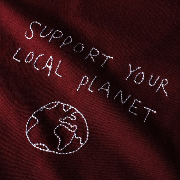 T-shirt Stockholm Local Planet Burgundy