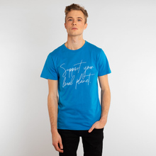 T-shirt Stockholm Support script blue