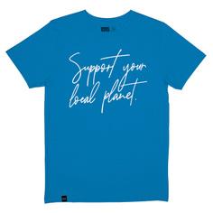 T-shirt Stockholm Support script blue