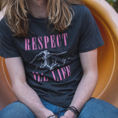 T-shirt Stockholm Respect Life Charcoal