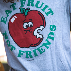 T-shirt Stockholm Eat Fruit Grey Melange