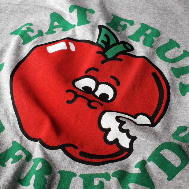 T-shirt Stockholm Eat Fruit Grå