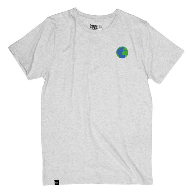 T-shirt Stockholm Globe Grey Melange