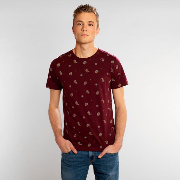 T-shirt Stockholm Paisley Burgundy