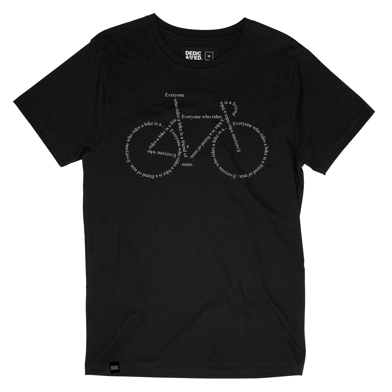 T-shirt Stockholm Text Bike