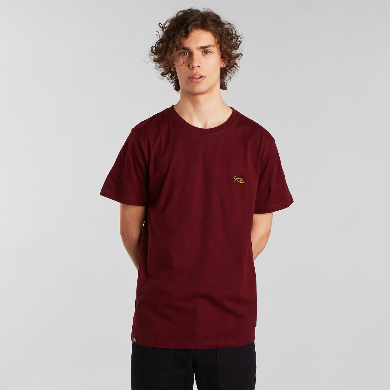 T-shirt Stockholm Stitch Bike Burgundy