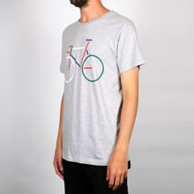 T-shirt Stockholm Color Bike Grey Melange