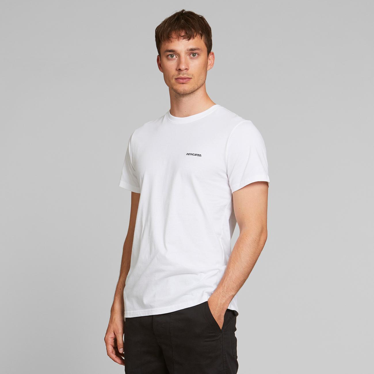 T-shirt Stockholm Dedicated Logo White
