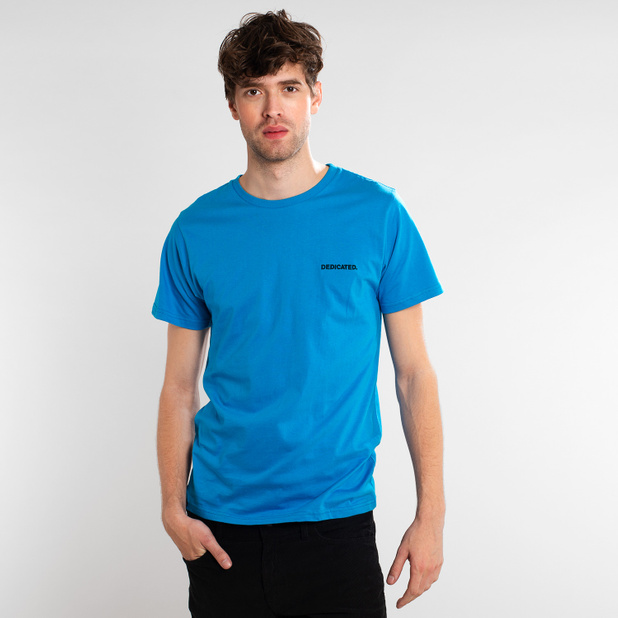 T-shirt Stockholm Dedicated Logo Blue Aster