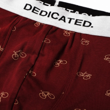 Boxer Briefs Kalix Bike Pattern Burgundy