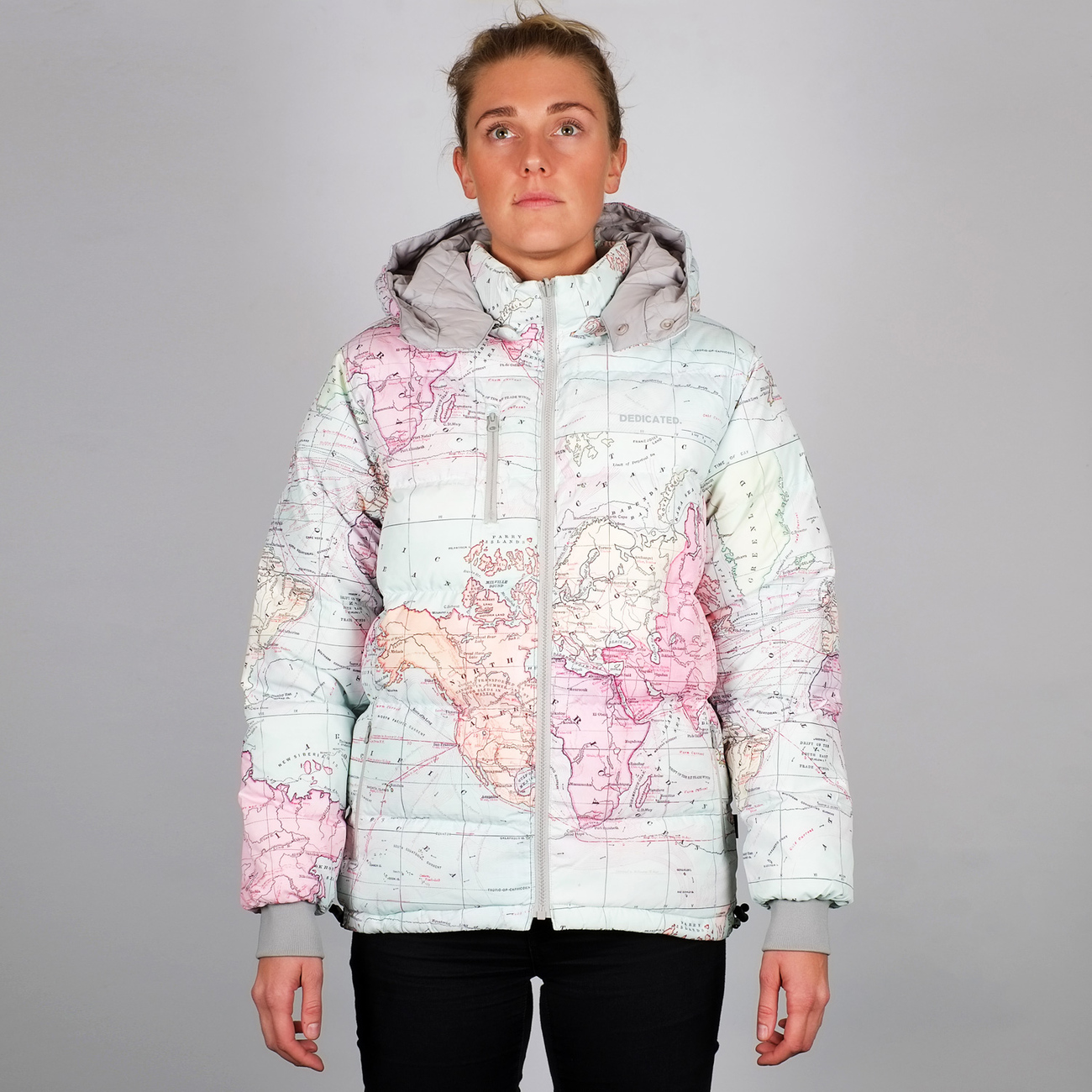 DEDICATED - Puffer Jacket Boden Map in Multi Color - Tshirt ...
