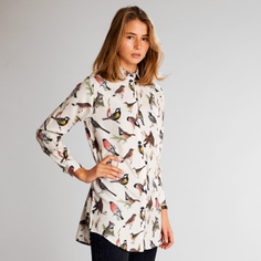 Shirt Fredericia Autumn Birds Off-White