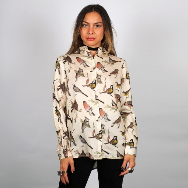 Shirt Dorothea Autumn Birds Off-White