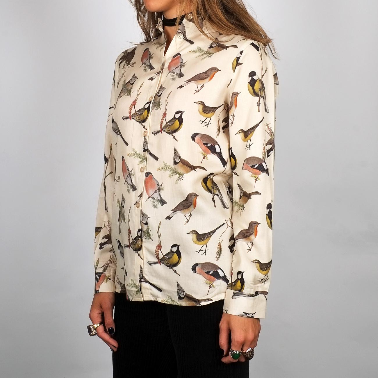 Shirt Dorothea Autumn Birds Off-White