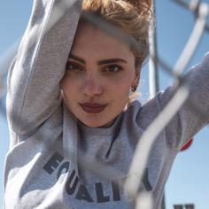 Sweatshirt Ystad Equality Grey Melange