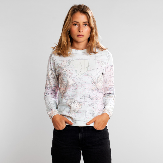 Sweatshirt Ystad Map