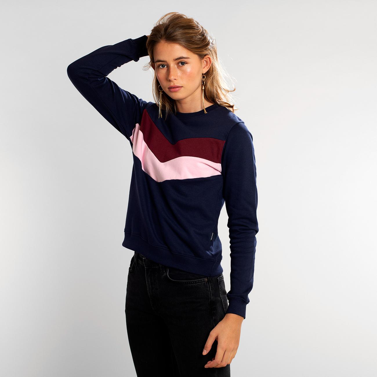 Sweatshirt Ystad Arrow Split Navy