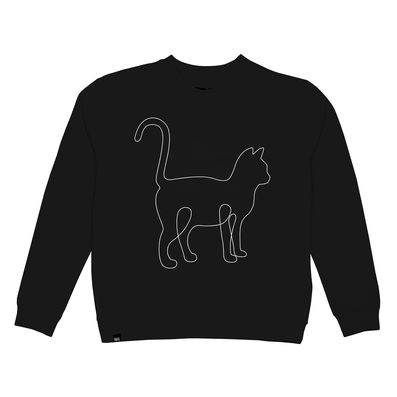 Sweatshirt Ystad One Line Cat