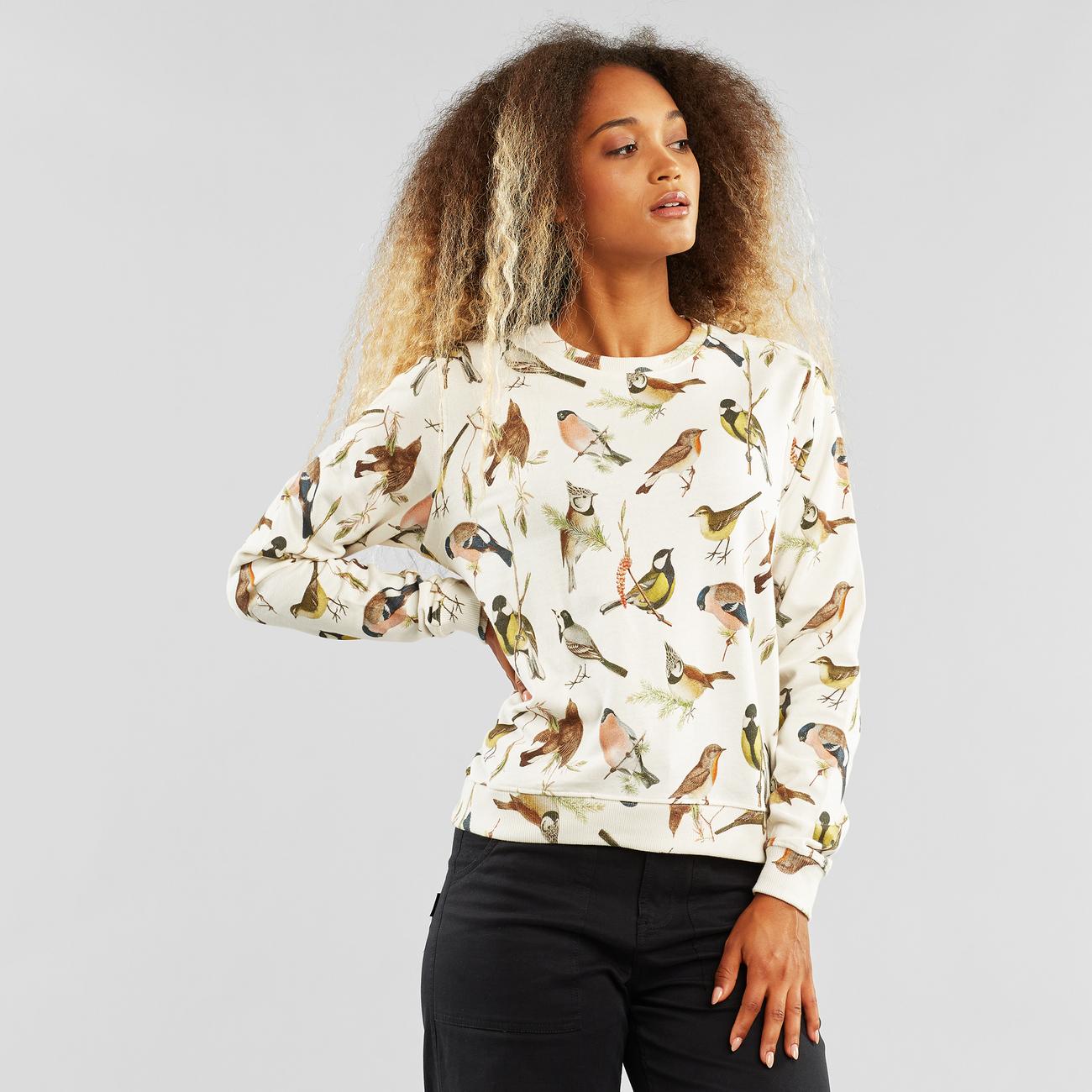 Sweatshirt Ystad Autumn Birds Off White