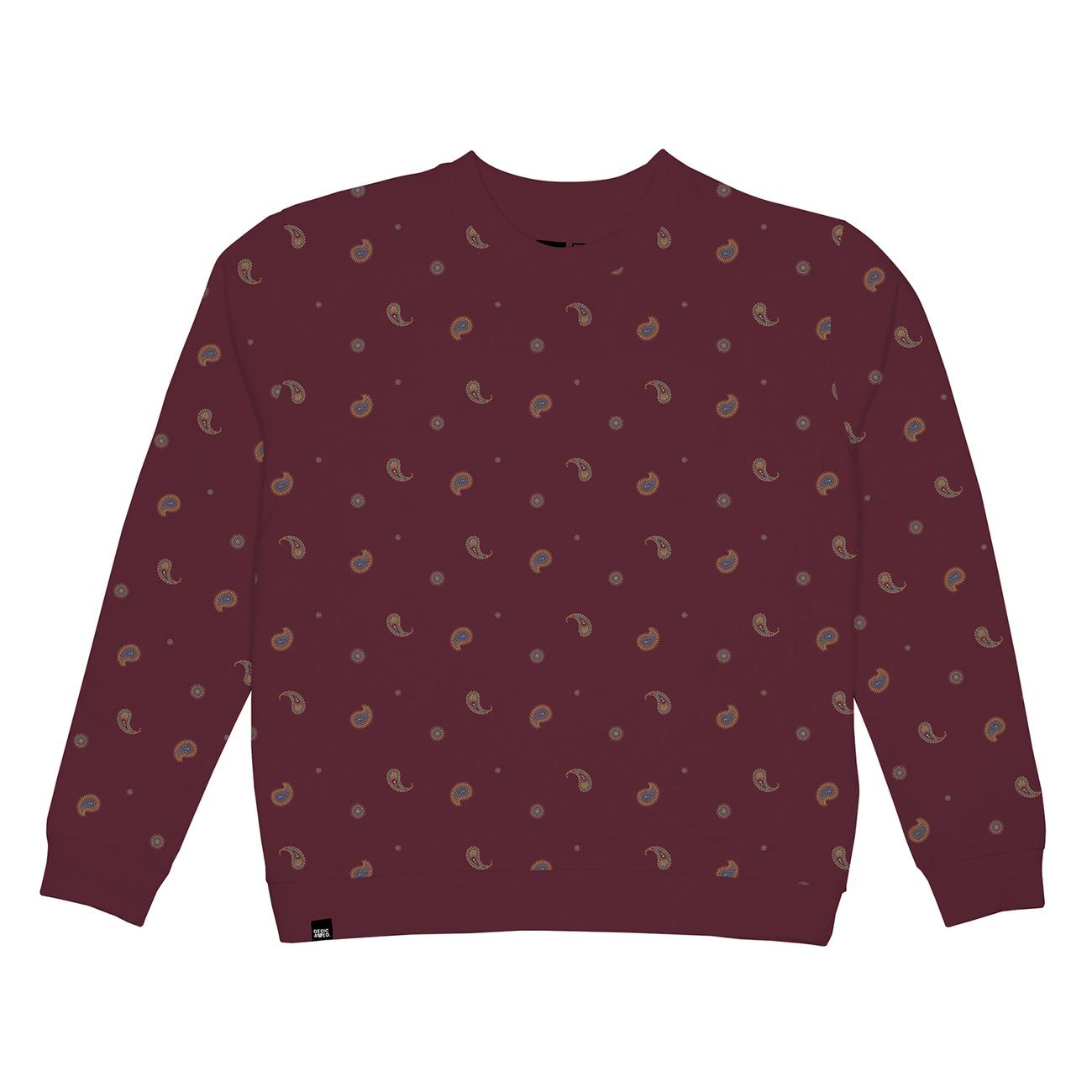 Sweatshirt Ystad Paisley Burgundy