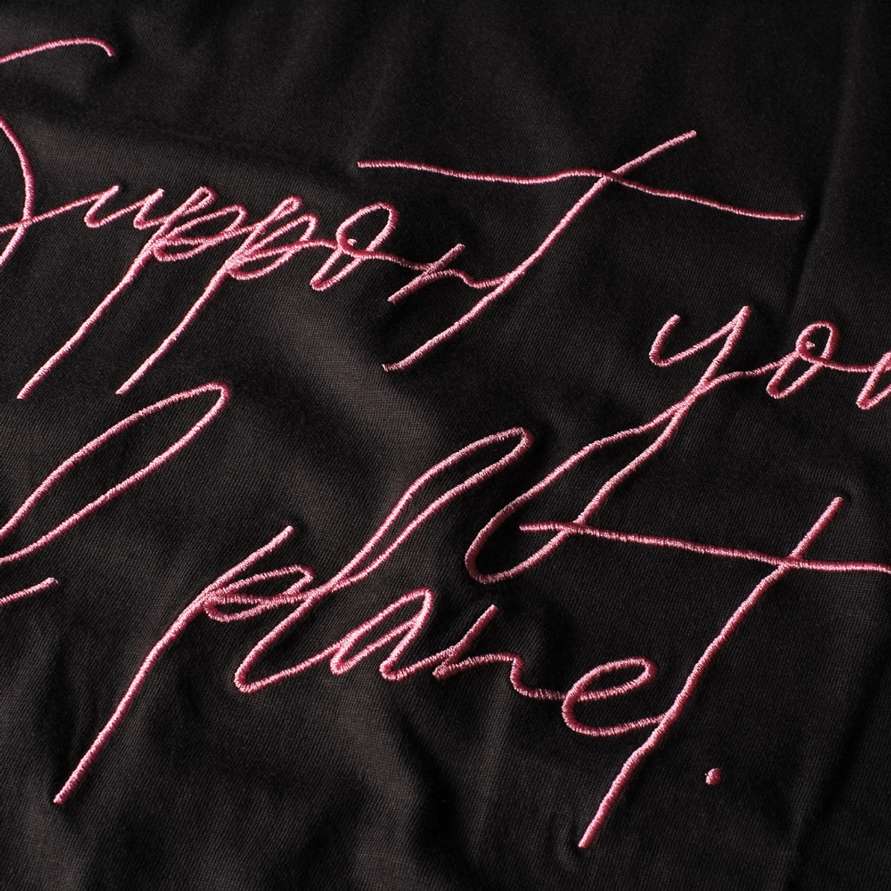 T-shirt Visby Support Script Charcoal