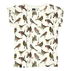 T-shirt Visby Autumn Birds Off White