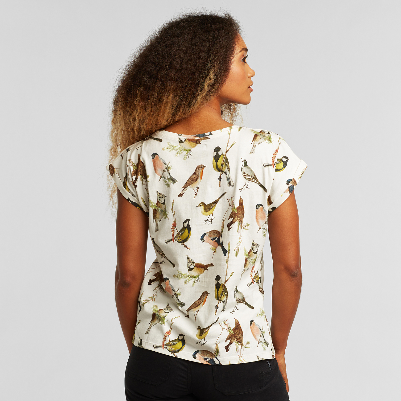 T-shirt Visby Autumn Birds Off White