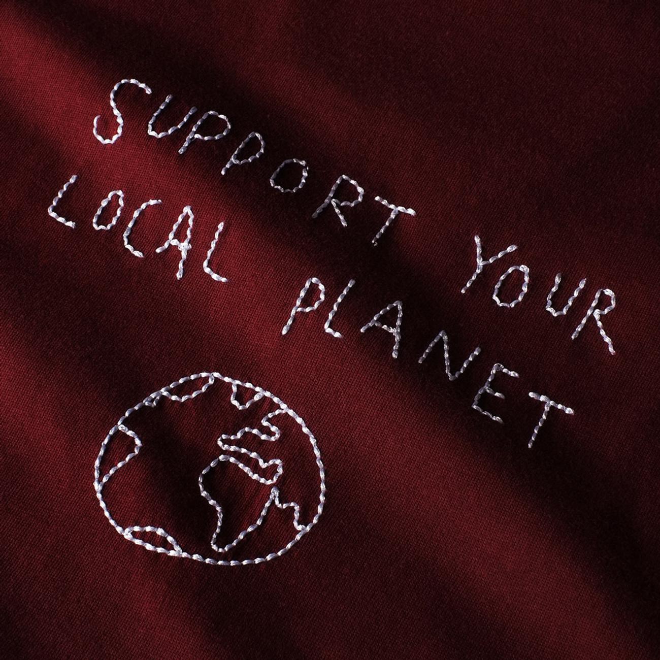T-shirt Visby Local Planet Burgundy