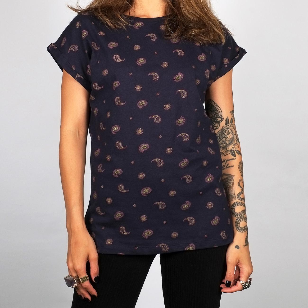 T-shirt Visby Paisley Navy